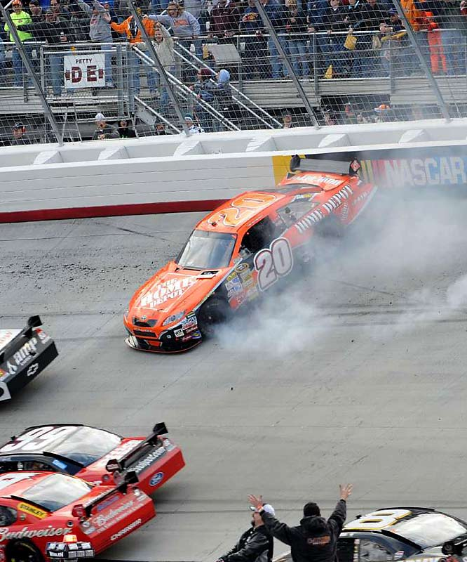''I thought I left him enough room. I'm sure somehow it was my fault. I'm sorry I got in his way.''<br><br>  -- Tony Stewart after late-race contact with Kevin Harvick sent Stewart's car into the wall at Bristol.