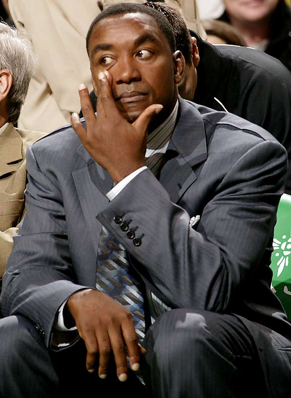 """...it's the same story every two weeks. It's just a different guy this time."" <br><br>--Embattled Knicks coach Isiah Thomas reacting to reports that the team may hire Indiana Pacers CEO Donnie Walsh."