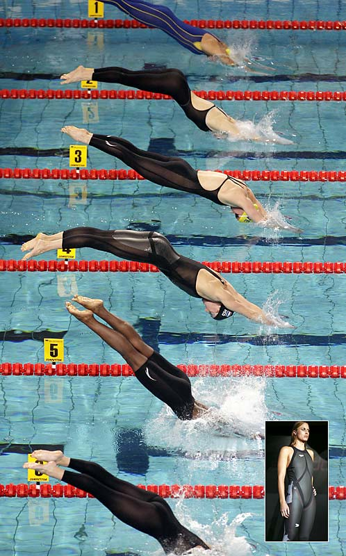 ''There are concerns about suits being like triathlon suits, which are thicker. There are buoyancy issues.''<br><br>-- FINA's executive director Cornel Marculescu after 12 world records were set this year by swimmers wearing the slick new swimsuits (inset below).
