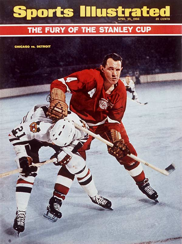 Throughout a 20-year career with the Blackhawks, Rangers and Red Wings, Gadsby accumulated 640 stitches (by his wife's count). One vicious Gadsby check in a 1955 game broke Tim Horton's jaw and leg.