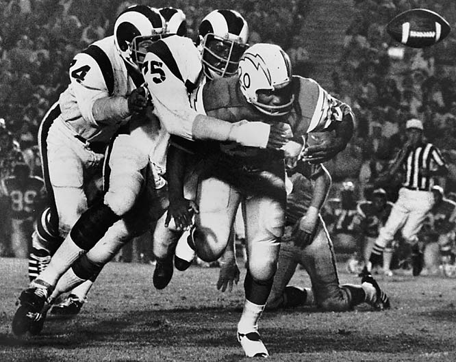 "Widely credited with coining the term ""quarterback sack,"" Jones piled up 173.5 sacks with the Rams, Chargers and Redskins. But even more impressive was his freakish durability: Jones missed just six  games during his 14-year career."