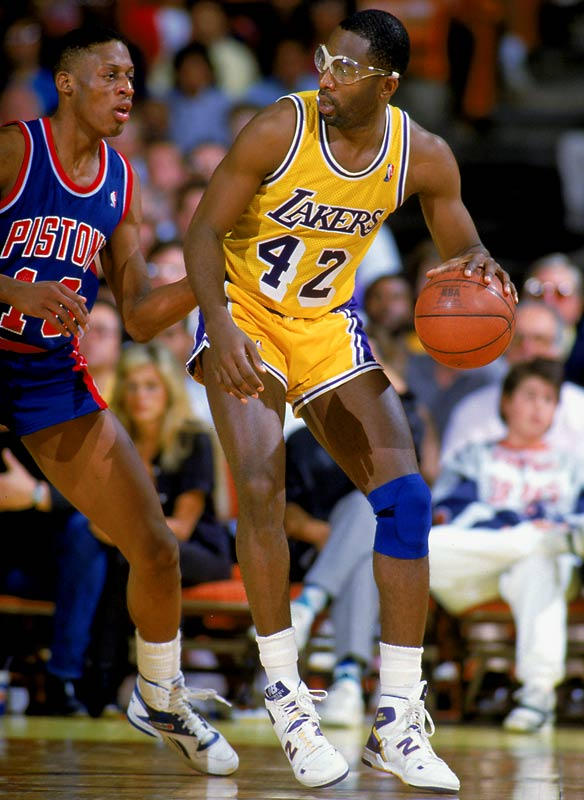 Facing an upstart Detroit Pistons club in their third Game 7 of the playoffs, the Lakers defended their NBA championship with a three-point win in Los Angeles. Finals MVP James Worthy led the way with 36 points and 16 rebounds, making good on coach Pat Riley's guarantee that the Lakers would hold onto their title.