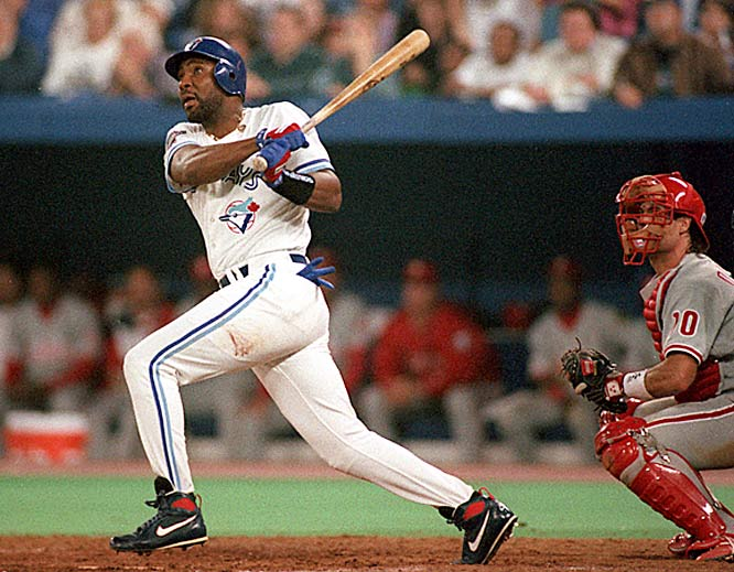 With the Blue Jays trailing 6-5 in the bottom of the ninth and Rickey Henderson and Paul Molitor on base, Joe Carter launched a three-run homer off Mitch Williams.