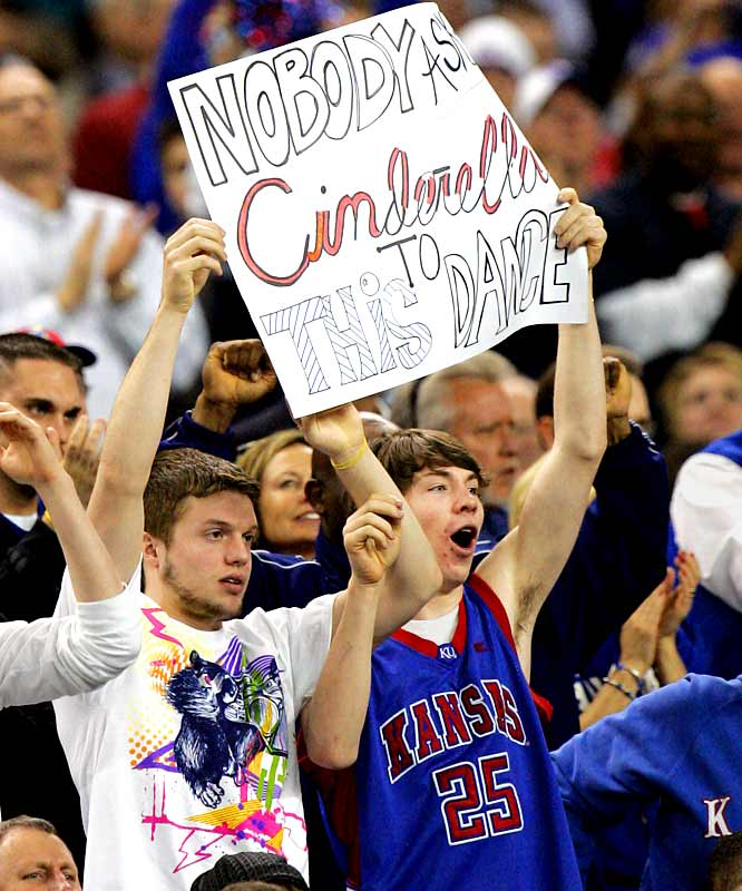 Kansas fans put the kibash on Davidson's Final Four dreams.