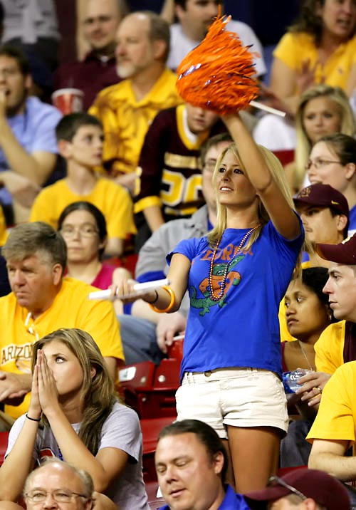 Florida may be slumming it in the NIT this year, but that didn't stop this fan from rooting on her Gators.