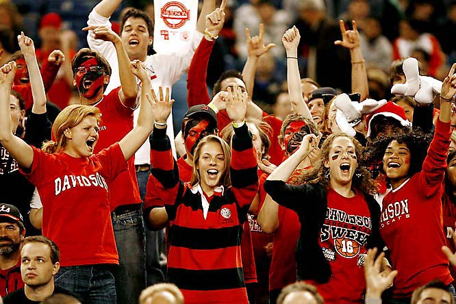 The folks at Davidson were so happy to see their Wildcats in the Sweet 16, they paid for students to travel to Detroit for the games.