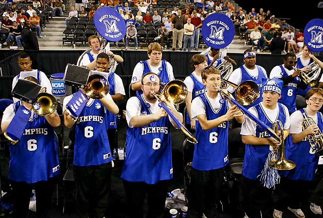 The Memphis band had a front-row view of the action.