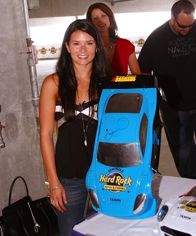 Another SI swimsuit model -- oh, and Indy Car driver, too -- Danica Patrick, attended a charity remote-control car race at the Seminole Hard Rock in Tampa on Wednesday.