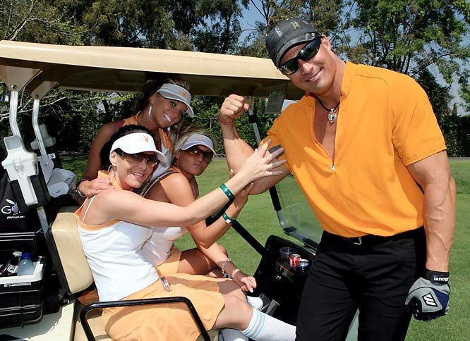 "Jose Canseco took time out from his book tour to attend the ""Playboy"" event to show off his artificially enhanced muscles."