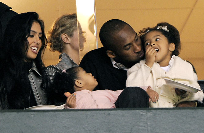 Kobe Bryant and wife, Vanessa, enjoyed time with their daughters, Natalia and Gianna, last week as they watched the San Jose Earthquakes take on the Los Angeles Galaxy.