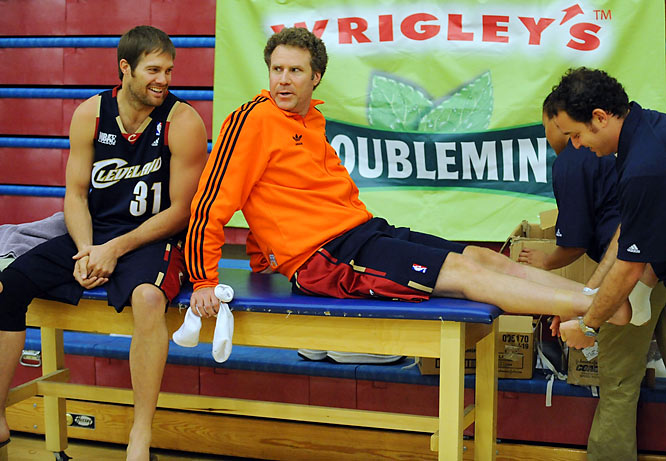 Will Ferrell gets taped for the Doublemint NBA Entertainment League Finals, which took place last weekend.