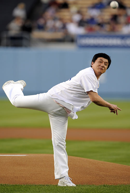Couldn't Jackie Chan, who threw out the first pitch at the Dodgers-Padres game last Saturday, attempt to at least be near the pitching rubber?