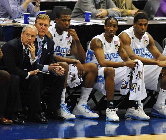 Things looked glum early on for Roy Williams and the Tar Heels, who went into halftime facing a 17-point deficit.