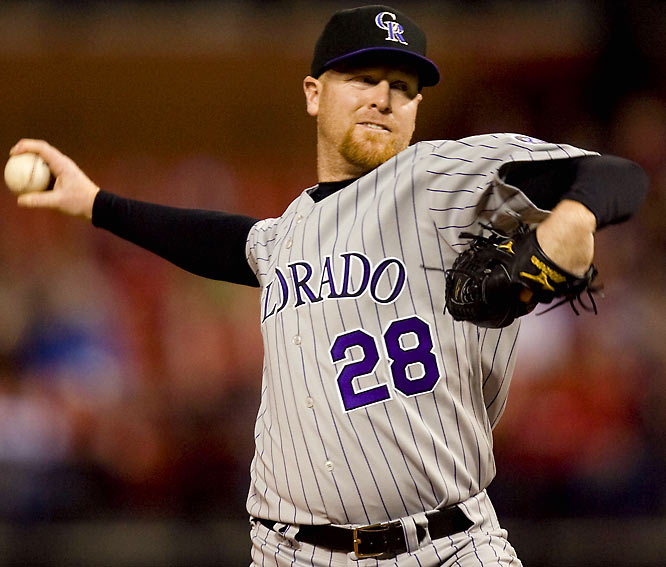 The 2005 Tony Conigliaro award winner continues to impress after having his career interrupted in '04 by blood clots in both lung. The right-hander used his passion for baseball to help him come back, which he did as the Opening Day starter for the Rockies in 2007. This season he's 6-2 with a 2.82 ERA.