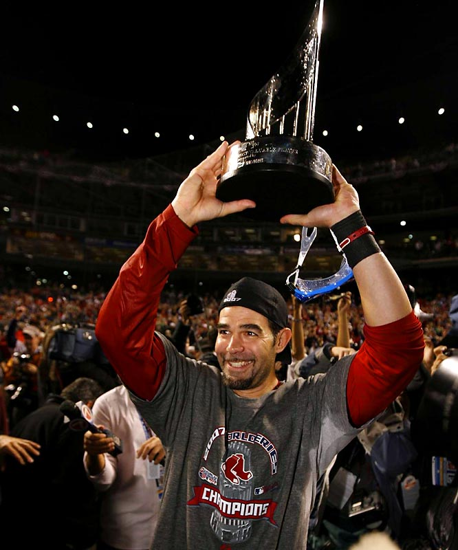 He overcame testicular cancer in 1999 and returned to the big leagues for what has been a long and successful career, including being named World Series MVP last season. Though he spent time on the disabled list with an injured thumb, Lowell is hitting .319 so far this season.