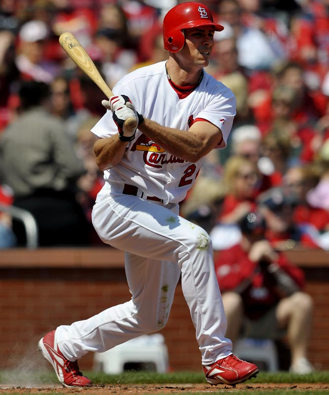 In his second major league season as an outfielder, the once highly prized pitching prospect was hitting .285 with seven home runs through May 19. Ankiel, who battled severe control problems before undergoing Tommy John surgery in 2003, hit .285 in 47 games late last season, his first back in the bigs since giving up pitching.