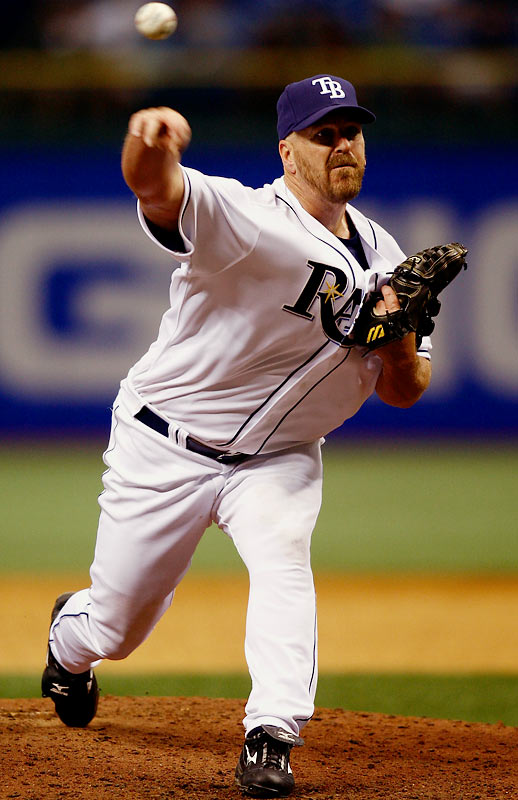 Fresh off a two-year stint throwing batting practice to a bunch of kids in the Orangecrest Pony League, former Angels closer Troy Percival, at 38 years young, recorded his first save since July 2005 in his 2008 debut as the Rays' closer, and had 12 saves through May 19.