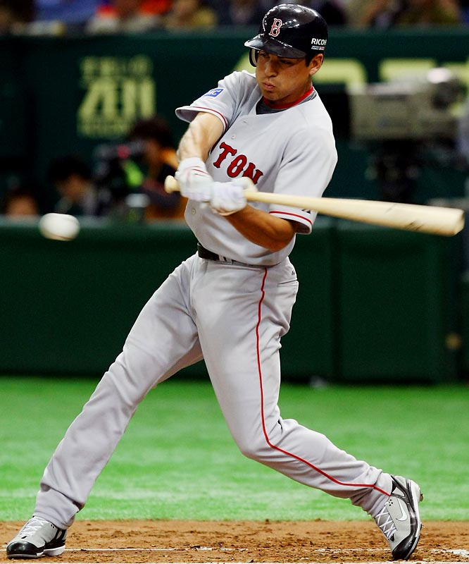 The 24-year-old centerfielder and postseason hero of last year's World Series-winning Red Sox is battling Coco Crisp for the starting job in center field.