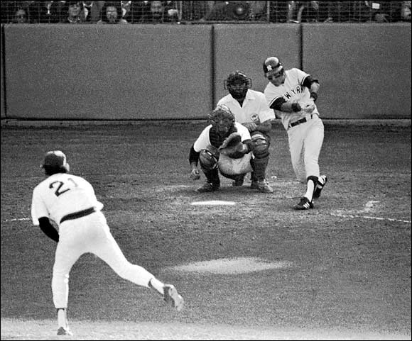 In a one-game playoff, the diminutive Bucky Dent smashed a three-run homer in the seventh inning at Fenway Park for a 5-4 win. The Yankees had come back from 14 games out in late July to win the AL East.