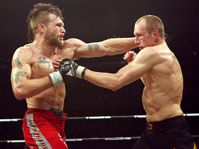 McGivern, of Miletich Fighting Systems, serves Horwich a punch en route to earning the IFL middleweight title in Vegas on Feb. 29.