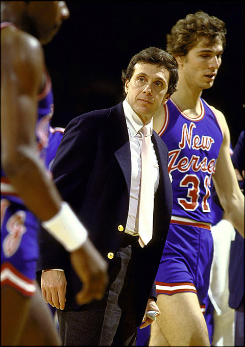 After being lured by a hefty pay raise, Brown returned to the NBA with the New Jersey Nets in 1981. It would be another short tenure, as Brown, late in his second season in New Jersey, interviewed for the Kansas job (with the Nets' permission) and ultimately accepted the position. The Nets fired him with six games left in the regular season and went on to lose in the first round of the playoffs.