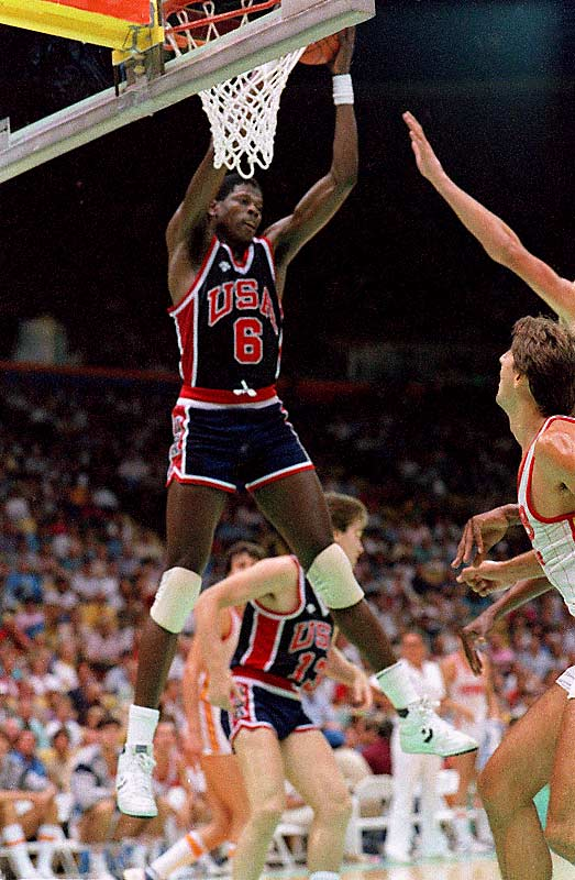 "Just months after winning the NCAA tournament, Ewing competed alongside Michael Jordan, Chris Mullin and Steve Alford for the United States in the Summer Olympics. The Americans defeated Spain in the gold medal game, 96-65, with Ewing contributing nine points and four rebounds. ""The feeling is equal,"" remarked Ewing when asked to compare winning gold with the NCAA title."