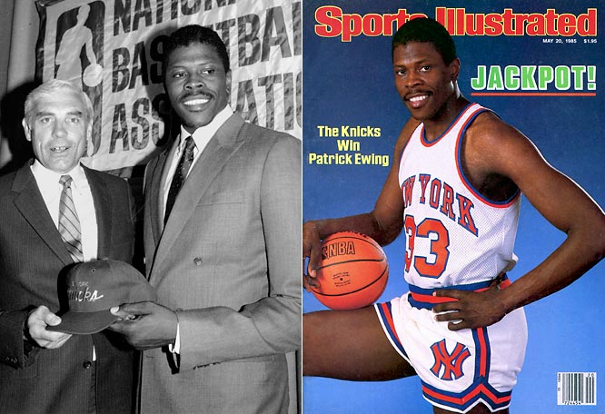 With NBA franchises willing to stop at nothing to acquire Ewing out of college, the NBA instituted a lottery system to dissuade teams from tanking games. Instead of the team with the worst record getting the No. 1 overall pick by default, they'd simply get the best chance in a drawing for the first selection. Just weeks after hitting the jackpot in the first Draft Lottery, the New York Knicks made Ewing the first pick in the 1985 NBA Draft.