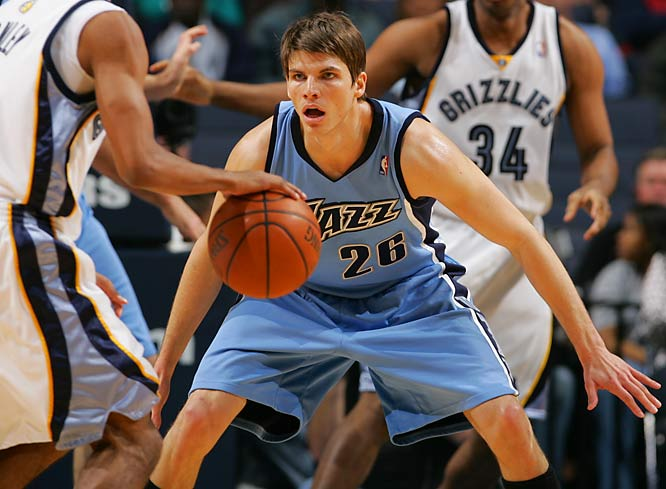 Since joining the Jazz midway through the season, Korver has helped spread the floor with his lights-out shooting ability from beyond the arc, creating invaluable space for leading contributors Deron Williams and Carlos Boozer. Utah's gaudy 38-12 record since the December trade reflects Korver's value within Jerry Sloan's system.