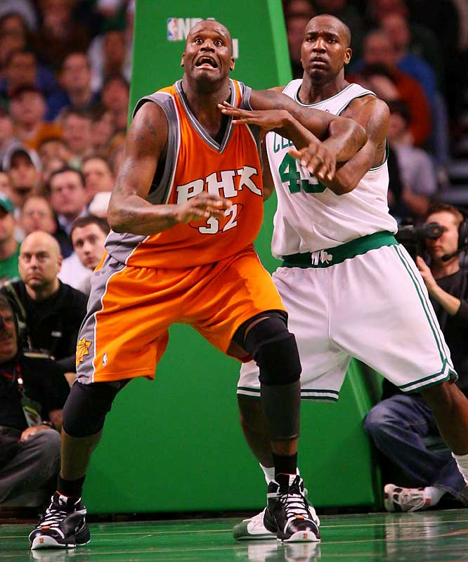 Since coming over to Phoenix in the most divisive deadline trade in recent memory, O'Neal has played 29 games, with the Suns winning 18 times. While this might not be the same Shaq as five years ago, the big man's formidable presence allows Amare Stoudamire to rove the floor as a true four while cutting down the youngster's foul trouble. If Shaq can reduce his turnovers, the Big Experiment could yield the franchise's first title.
