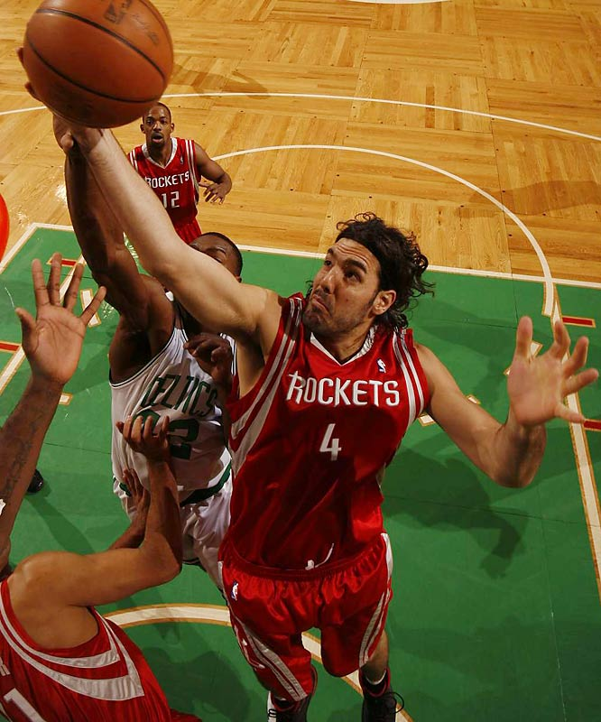 A trendy pick for Rookie of the Year entering the season, the Argentine power forward endured a sluggish start before finally cracking the starting lineup on Jan. 27 -- just two days before Houston embarked on a 22-game winning streak. With Yao Ming shelved for the season, the Rockets will depend even more heavily on Scola for frontcourt production. His 22-point, 10-rebound performance in Wednesday's final playoff tune-up opposite All-Star forward Elton Brand is encouraging.