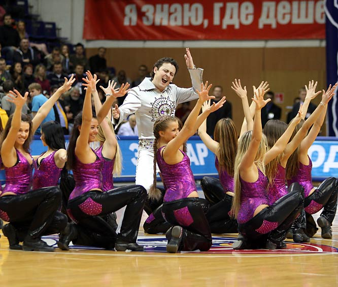 Kushchenko's team plays home games at the CSKA Universal Sports Hall, a 5,500-seat arena originally constructed for the 1980 Summer Olympics in Moscow. Innovations under the progressive leader include elaborate cheerleading routines complete with spinning disco lights and Elvis impersonators.