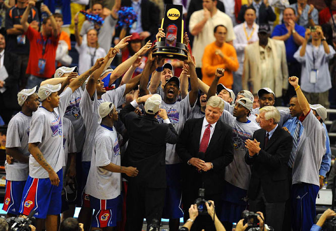 The Jayhawks will return to Lawrence, KS with their first title since 1988.