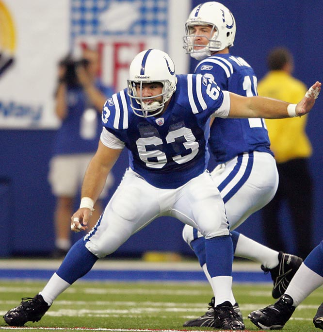 The Ravens signed this center as an UFA out of North Carolina in April 1998, only to cut him two months later. As a Colt, Saturday has been in three Pro Bowls and is a three-time All-Pro first-teamer.