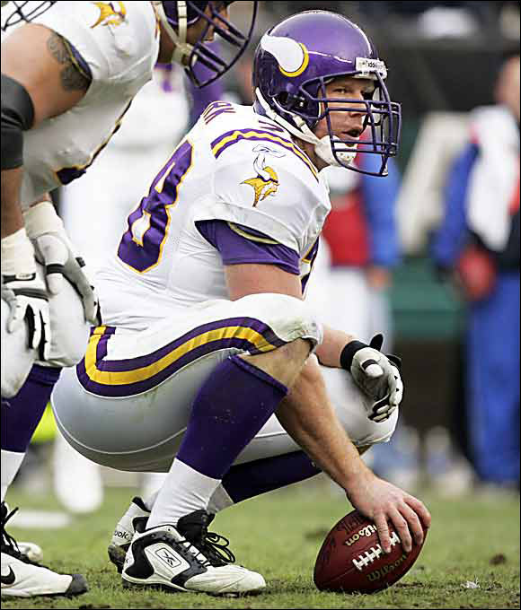 An All-Ivy performer at Harvard, Birk has been a fixture at center for the Vikings since 2000 and is considered by some to be the top center in the NFL. He earned his first bid to the Pro Bowl in 2000 and was selected again in 2001, 2003, 2004, 2006 and 2007.