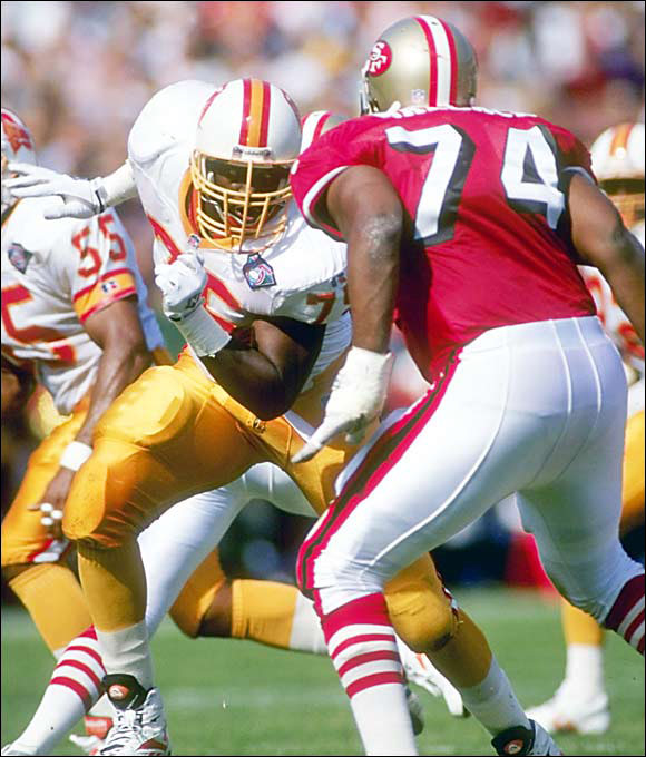 Eric Curry, who had 12 sacks in four years with the Bucs, may not even be Tampa Bay's worst pick of the '80s and early '90s (there are too many to list here). He isn't even the most disappointing DE to come out of Alabama that year (John Copeland went to Cincy at No. 5). But with his multiple connections to other draft flops, Curry earns a special Kevin Bacon-like spot in bustville.