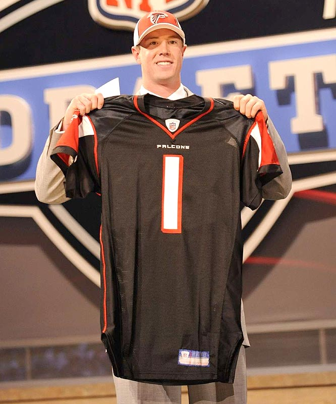 With Joey Harrington, Byron Leftwich and Chris Redman on the roster, the Falcons tabbed Boston College quarterback Matt Ryan as the face of the franchise with the No. 3 pick.