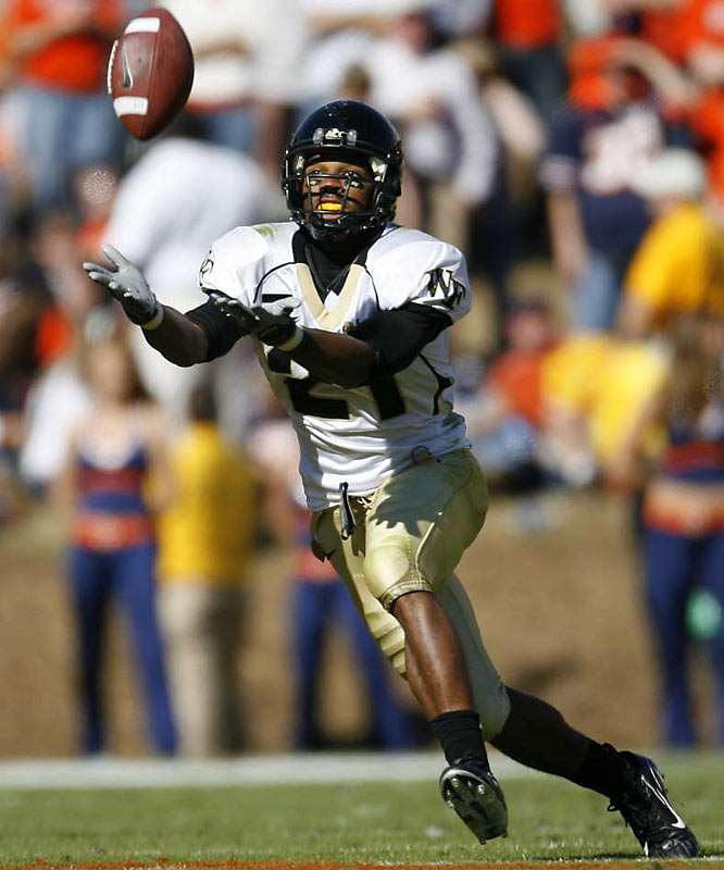 Kenneth Moore helped save Wake Forest's amazing 11-3 season in 2006 by moving from wide receiver to running back the last five games and gained more than 500 yards rushing including 165 yards at Maryland and 80 yards rushing and five catches in a 30-0 win at Florida State. This season, Moore caught 98 balls. Not as explosive as many players, but if he is taken in the fourth round or later, his unselfish versatility as a third-down back/slot WR/return man will reward the team that drafts him.<br><br>John Seago<br> Virginia Beach, Va.