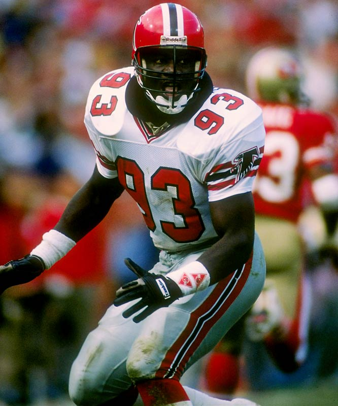 Touted as the next Lawrence Taylor, the underwhelming Bruce started just 42 games during an 11-year career with the Falcons and Raiders.