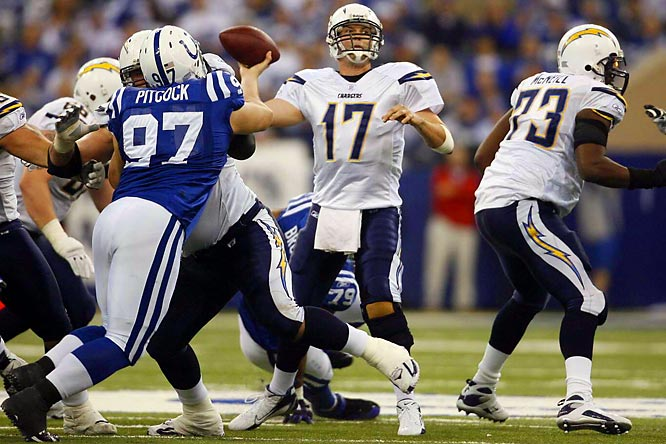 The Chargers have had the Colts' number, beating them twice last season.