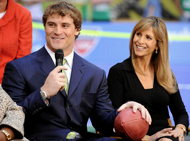 Chris Long, son of Hall of Fame defensive end Howie Long, also appeared on the <i>Today Show</i> with his mom, Diane.