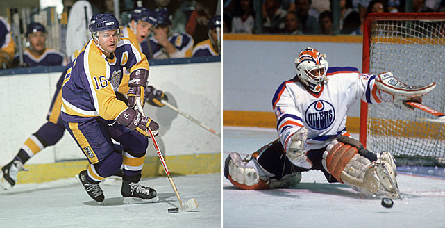 The high-powered Oilers (Wayne Gretzky scored 92 goals that season as Edmonton went 48-17-15) were huge favorites in their best-of-five series against Marcel Dionne (left) and the Kings, who finished fourth in their division at 24-41-15. The Kings stole Game 1, but lost a wild shootout, 10-8, in Game 2. The next match, in Los Angeles, became known as the Miracle on Manchester after the Kings stormed out of a 5-0 hole in the third period to tie the game with five seconds remaining. At 2:35 of overtime, rookie forward Daryl Evans beat Oilers goalie Grant Fuhr (right) to give LA the win. Though the Oilers squared the series in Game 4, the Kings pulled off the stunning upset with a 7-4 win the next night.The high-powered Oilers (Wayne Gretzky scored 92 goals that season) were huge favorites against Marcel Dionne (left) and the Kings, who did what. The Kings stole Game 1 of the best-of-five series, but lost a wild shootout, 10-8, in Game 2. The next match, in Los Angeles, became known as the Miracle on Manchester after the Kings stormed out of a 5-0 hole in the third period to win