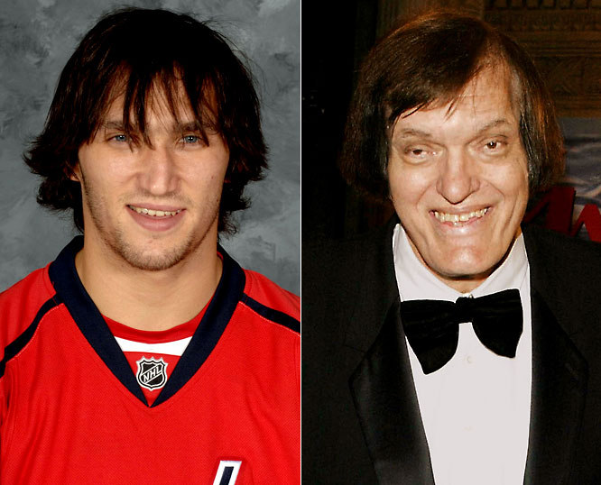 Capitals left wing Alexander Ovechkin is entering his first playoff series after leading the league in goals (65) and points (112).  He is currently the highest paid player in the NHL, signing a 13-year, $124 million contract in January, and has earned every penny thus far.<br><br>Richard Kiel is an actor best known for his role as the steel-toothed Jaws in the James Bond movies <i>The Spy Who Loved Me</i> and <i>Moonraker</i>. He also appeared in <i>Happy Gilmore</i> as hockey fanatic turned professional golfer Adam Sandler's former boss, notably with a nail lodged in his head courtesy of Happy.