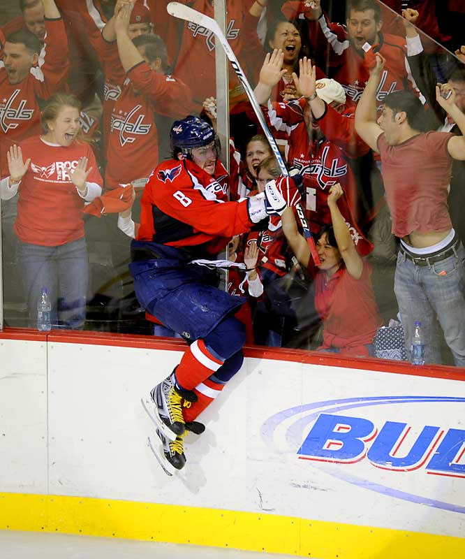 Despite the Capitals losing in seven games to the Flyers, Alex Ovechkin posted impressive numbers for his first postseason (4 goals and 5 assists).  The league's leading scorer in the regular season (65 goals, 112 points) notched two goals in Game 6, including the game-winner, and scored the Capitals second goal in Game 7 to force overtime with the Flyers.