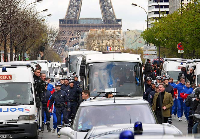 Unfortunately, the torch didn't get to see much of the famed Parisian landmarks. After being extinguished three times by protestors, the flame finished its stint in France by bus.