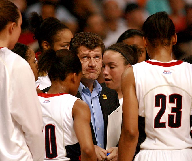 ''Life's thrown a lot of things at us this season. It took away two players. The fairy tale didn't have a happy ending. That's life.'' <br><br>--Connecticut coach Geno  Auriemma, whose Huskies were denied a spot in the national championship game.