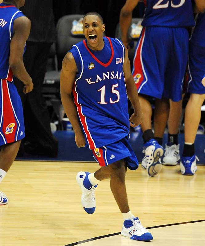 ''We got the ball in our most clutch player's hands, and he delivered,'' <br><br>-- Kansas coach Bill Self on the game-tying three-pointer by Mario Chalmers that helped lift Kansas to the national title.