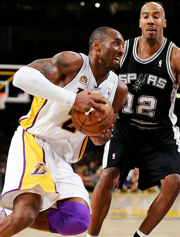 Kobe Bryant and the Lakers took sole possession of the Western Conference lead Sunday with a victory over the Spurs and put themselves a win away from nabbing the No. 1 playoff seed outright.