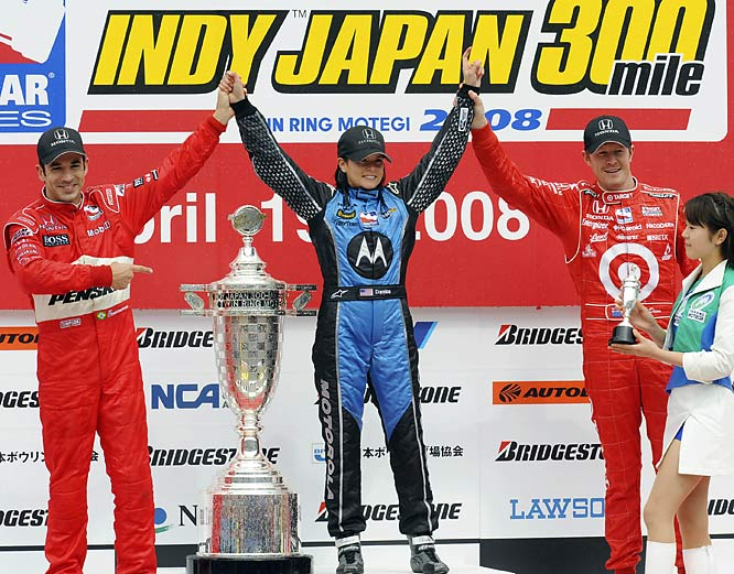 Cruising her way into the record books, Danica Patrick became the first female driver in IndyCar history to win a race, entering Victory Lane at the Japan 300 on Sunday.
