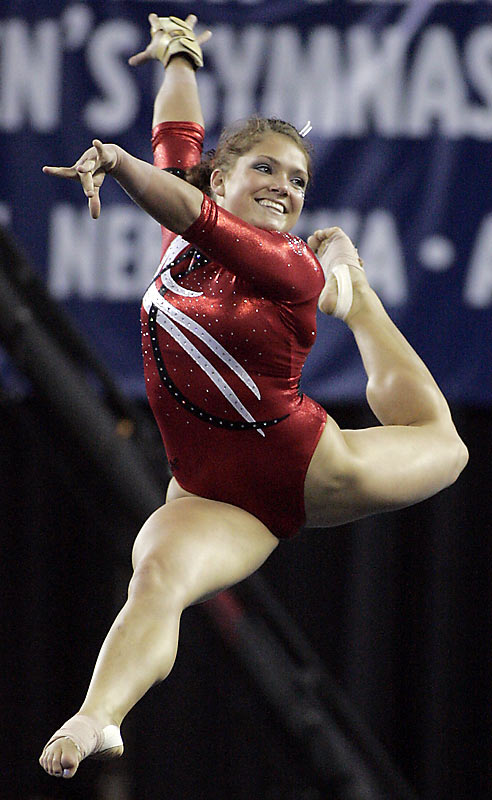 The University of Georgia's gymnastics team (Courtney McCool pictured) won their fourth straight national title at the Super Six held at Stegeman Coliseum. It is the second longest streak all-time behind the Utah Utes back when they rattled off five straight national championships during their reign from 1982-1986.