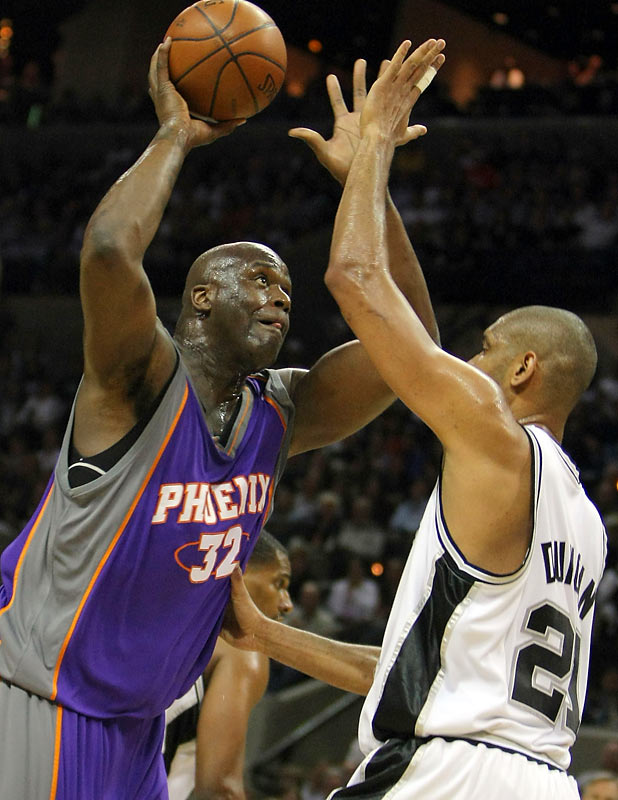 In what TNT analyst Doug Collins called a franchise-defining series, the Phoenix Suns were sent home after a Game 5 loss to the Spurs. The addition of Shaquille O'Neal was not enough to push the Suns over the top.